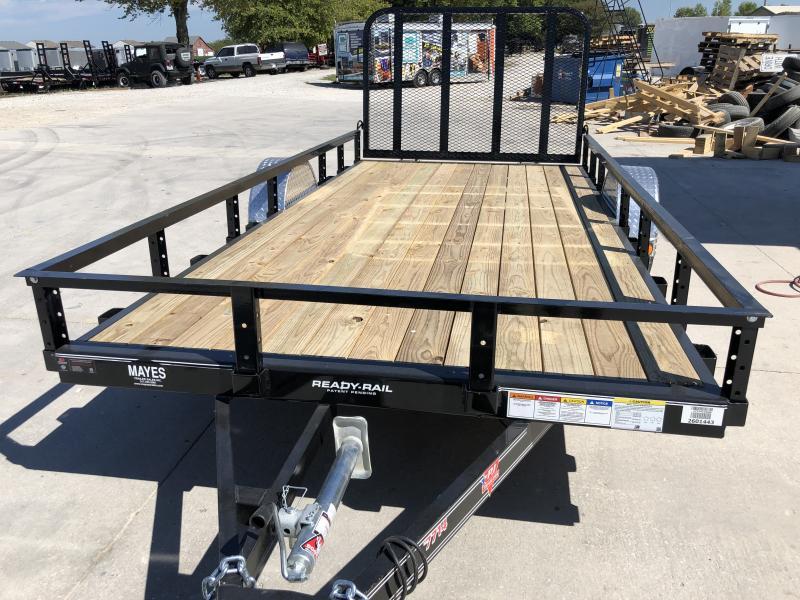 2020 77x14 SA PJ Trailers U7141 Utility Trailer - Straight Deck - 4' Tailgate (GVW:  2995)