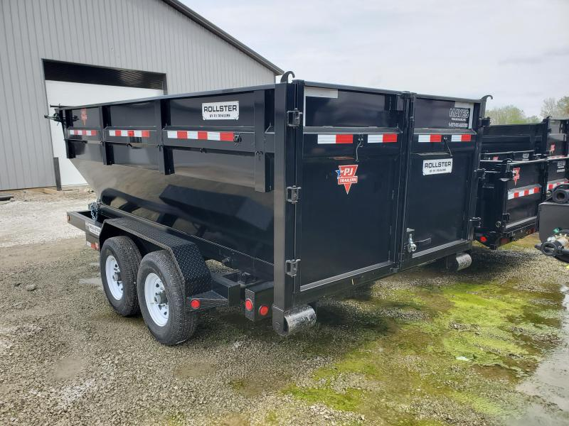 2020 83x14 TA PJ Trailers 14' Rollster Roll Off Dump Trailer (GVW:  14000)