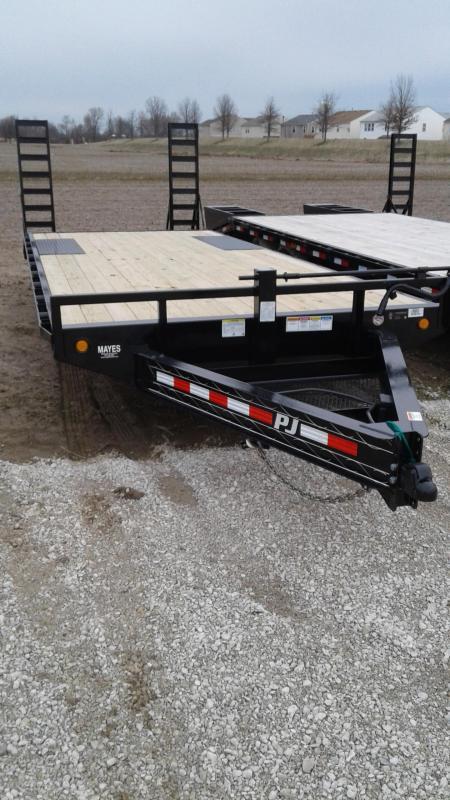 2019 (19+3) PJ Trailers F8222 Equipment Trailer - Fold Up Ramps (GVW:  14000)
