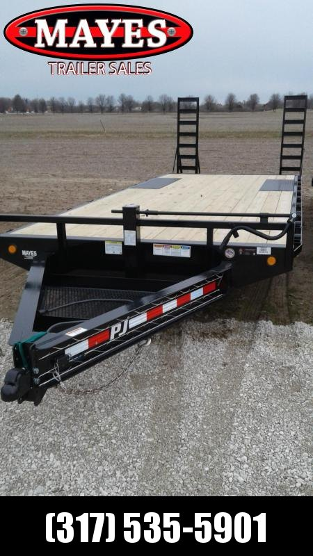 2019 (19+3) PJ Trailers F8222 Equipment Trailer - Fold Up Ramps (GVW:  14000)
