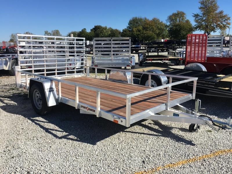 2018 7x12 Sport Haven AUT712 Utility Trailer - w/ 4' Fold-in Gate (GVW: 2990)