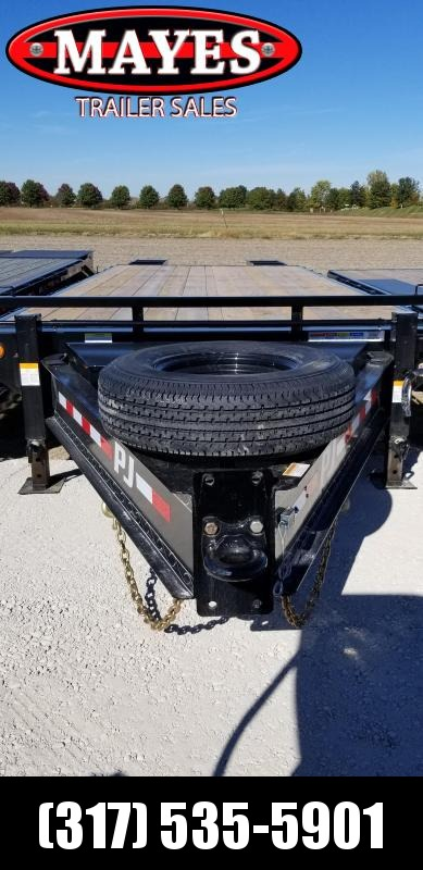 "2019 102x25 PJ Trailers FS252 Equipment Trailer - 20+5 Classic Flatdeck with Singles - 3"" Pintle (GVW:  15680)"