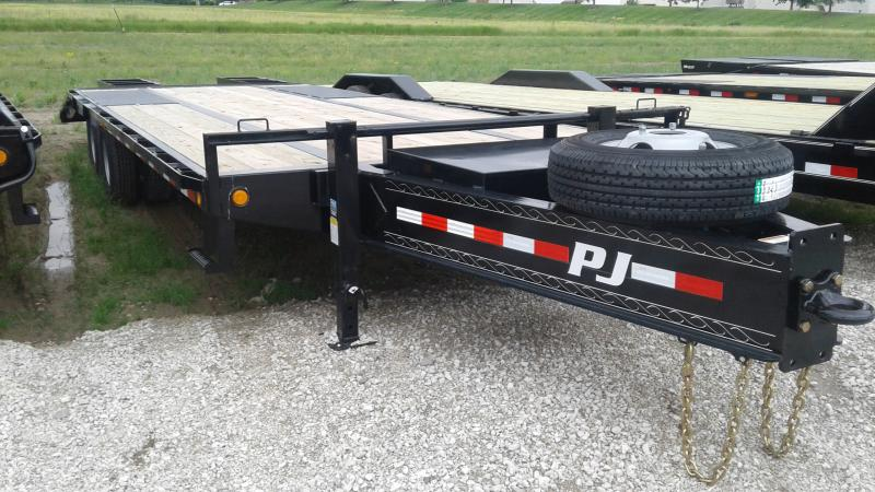 2020 102x25(20+5) PJ Trailers 25' Low-Pro Pintle with Duals Trailer - Pintle - Flip Over Ramps (GVW:  25000)