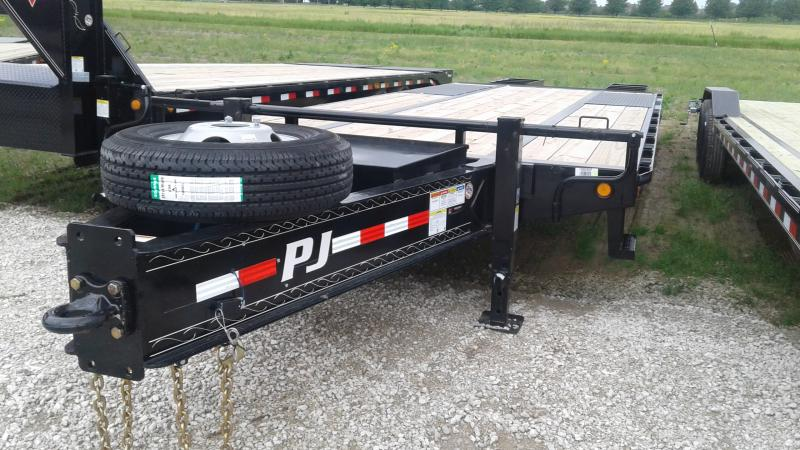 2020 25' (20+5) PJ Trailers 25' Low-Pro Pintle with Duals Trailer - Pintle - Flip Over Ramps (GVW:  25000)
