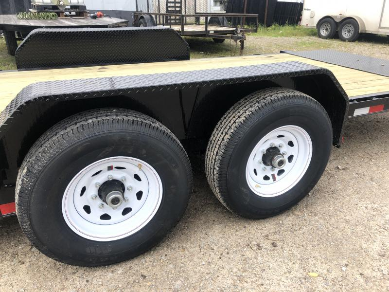 2020 20' (4+16) TA Tilt PJ Trailers T6202 Equipment Trailer - Spare Tire MOUNT ONLY - Torsion (GVW:  14000)
