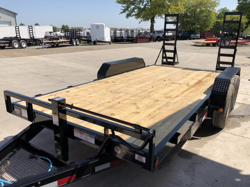 2020 83x16  (14+2) TA PJ Trailers CC162 Equipment Trailer - Fold Up Ramps (GVW:  14000)