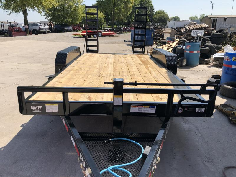 2020 16 Foot (14+2) TA PJ Trailers CC162 Equipment Trailer - Fold Up Ramps (GVW:  14000)