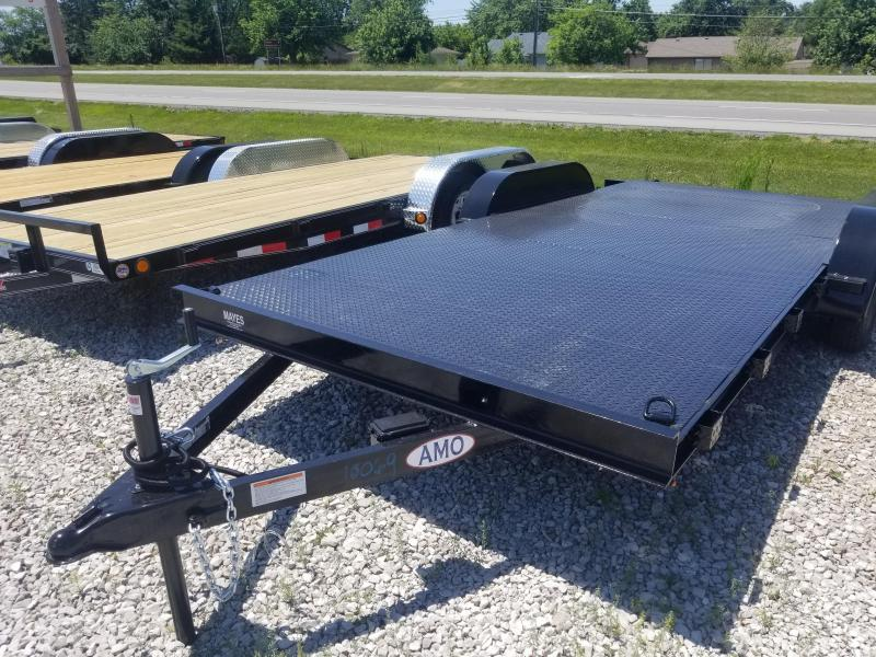 2018 82x18 American Manufacturing Operations AFD18BB Car / Racing Trailer - w/ 5' Slide-in Ramps (GVW: 7000) *Steel Floor*