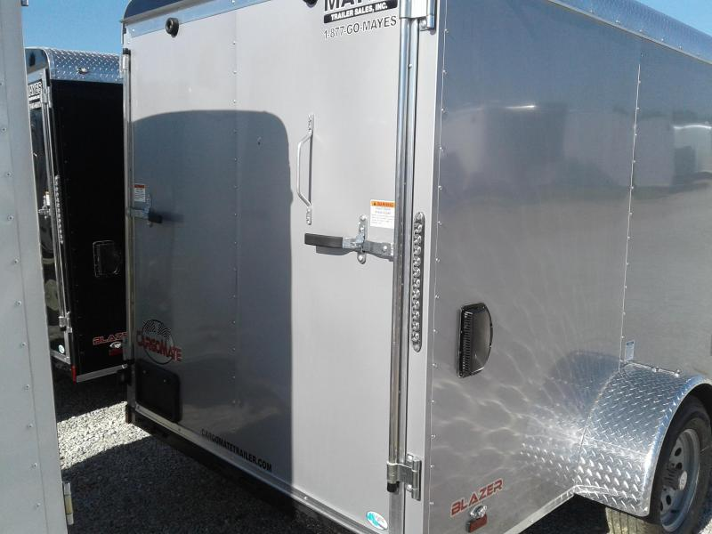 2019 6x12 Cargo Mate BL612SA Enclosed Cargo Trailer - Diamond Ice (RD)(GVW: 2990)