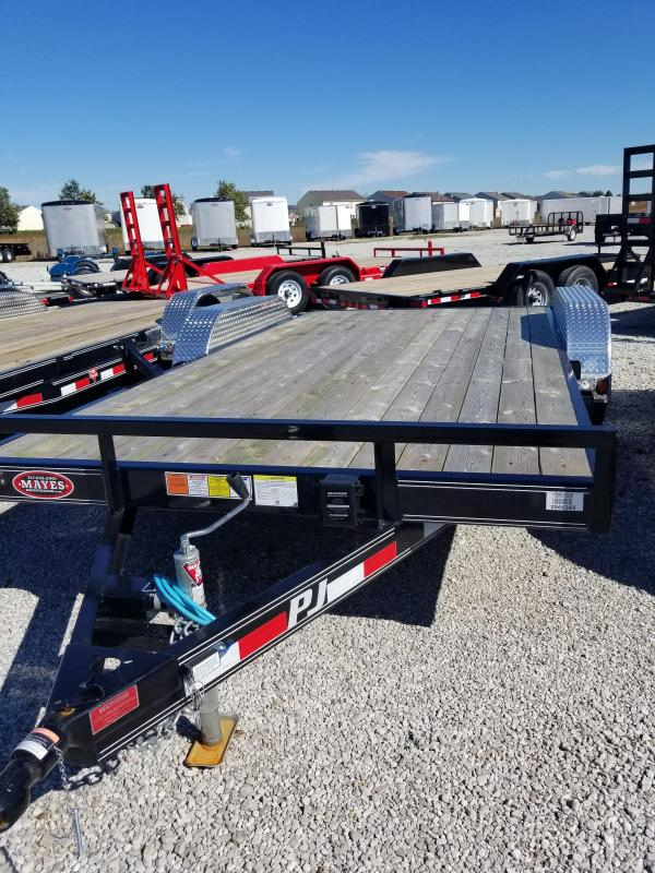 "2018 83x16(14+2' Dovetail) PJ Trailers C5 5"" Channel Carhauler Trailer - w/ 5' Slide-in Ramps (GVW: 7000)"