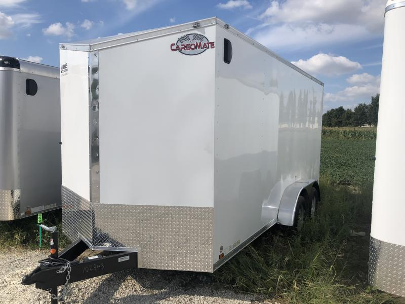 2020 7x16 TA Cargo Mate EHW716TA2 Enclosed Cargo Trailer - Ramp Door - 12 Inch Additional Height - Side by Side Package (GVW:  7000)
