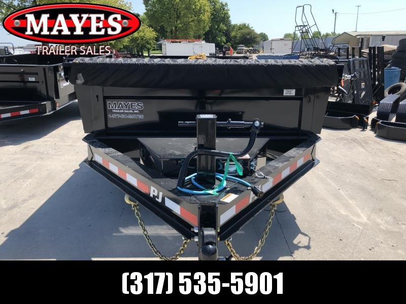 2020 83x16 Triple Axle PJ Trailers DL163 Dump Trailer - Split Spread Gate - Tarp Kit - 6 Inch Cylinder Upgrade (GVW:  20000)
