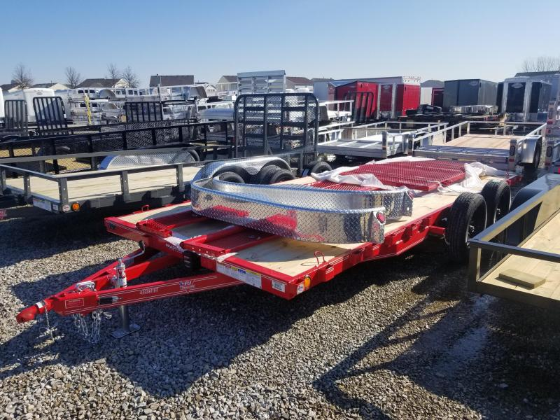 """2020 83x16 PJ Trailers 16' x 83"""" Tndm Axle Channel Utility Trailer - Straight Deck - Tailgate - Expanded Metal Sides - 2"""" Pipetop Removable Siderails - Black Wheels (GVW:  7000)"""