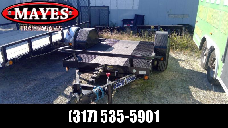2020 60x10 Scissor Hauler Load Trail SH601007 Equipment Trailer - Steel Floor - D-Rings - Cushion Gravity Down (GVW:  7000)
