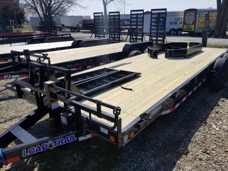 "2019 83x22 (16+20) Load Trail 83"" X 22' Tandem Axle Carhauler Car / Racing Trailer - Fold Up Ramps"