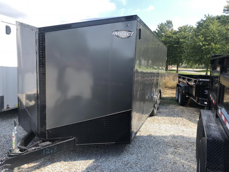 2019 102X20 Impact Trailers ISB8.520TA Enclosed Cargo Trailer - Char. Gray - Ramp (GVW:  7000#) in Ashburn, VA