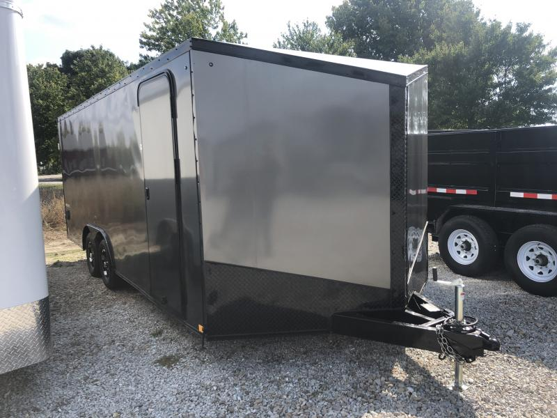 2019 102X20 Impact Trailers ISB8.520TA Enclosed Cargo Trailer - Char. Gray - Ramp (GVW:  7000#)
