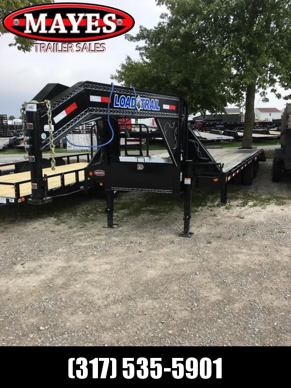 2018 102x28(23+5' Dovetail) Load Trail GP28 Flatbed Trailer - w/ 5' Self Clean Dove w/ 2 Flip-over Ramps (GVW: 24000)