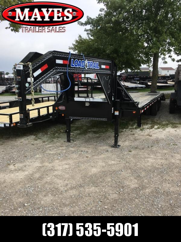2018 102x28(23+5' Dovetail) Load Trail GP28 Flatbed Trailer - w/ 5' Self Clean Dove w/ 2 Flip-over Ramps (GVW: 24000) Gooseneck