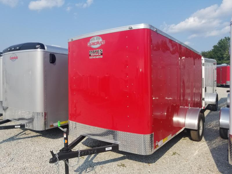 "2019 6x12 Cargo Mate SS612SA Enclosed Cargo Trailer - Red (DD)(GVW: 2990)(6"" Extra Height)"