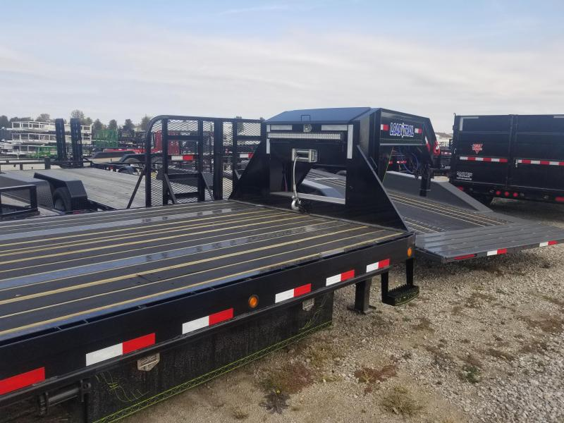 2019 102x40(35' + 5' Dovetail) Load Trail GP40 Triple Low-pro Gooseneck Equipment Trailer - w/ Max Ramps (GVW: 30000) *Gooseneck*