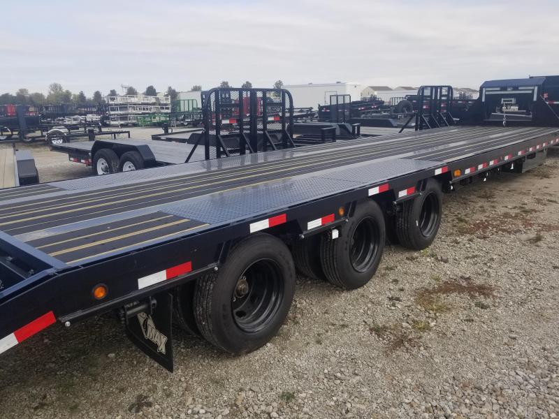 2019 102x40(35' + 5' Dovetail) Load Trail GP40 Triple Low-pro Gooseneck Equipment Trailer - w/ Max Ramps (GVW: 30000) *Gooseneck*
