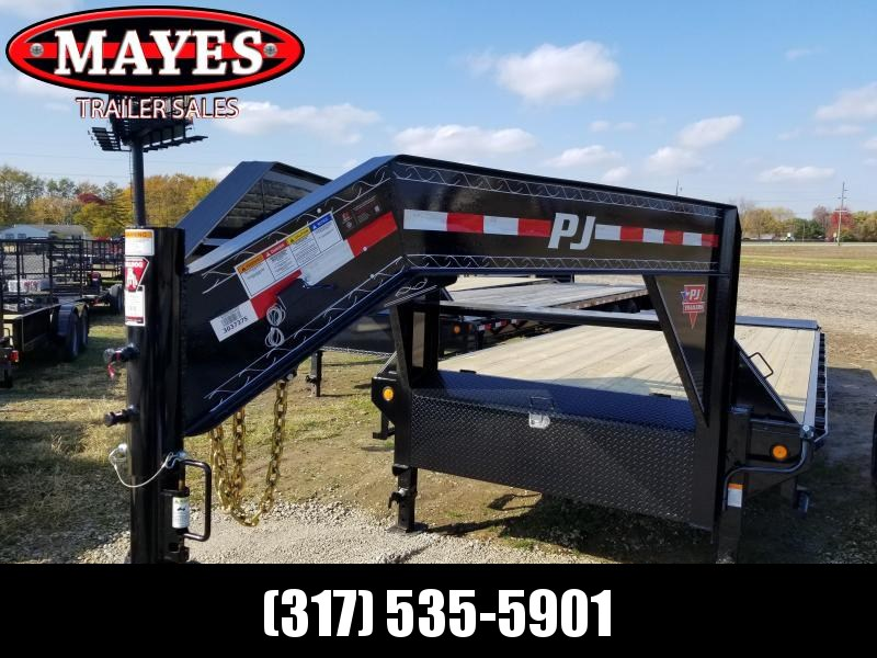 2019 102x25 PJ Trailers FS252 Equipment Trailer - 20+5 Classic Flatdeck with Singles (GVW:  15680)