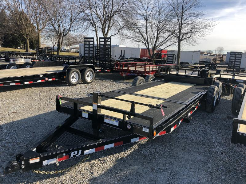 2019 22' (6+16) Tilt PJ Trailers T6222 Equipment Trailer - Blackwood Pro Outer Deck (GVW:  14000)