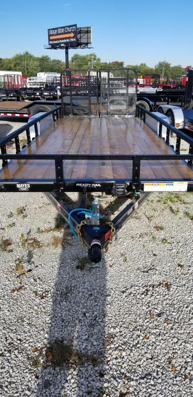 "2019 83x20(18+2' Dovetail) PJ Trailers UL 83"" Tndm Axle Channel Utility Trailer - w/ Split HD Gate (GVW: 9899)"