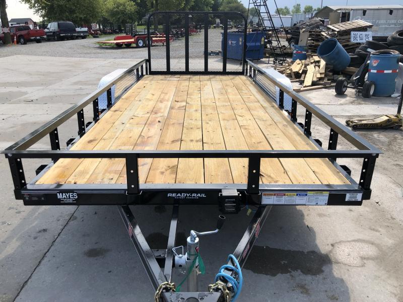 2020 83x18 (16+2) TA PJ Trailers UL182 Utility Trailer - Dovetail - Tailgate (GVW:  9899)