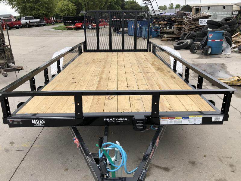 2020 83x16 (14+2) TA PJ Trailers UL162 Utility Trailer - Dovetail - 4 Foot Fold Up Gate (GVW:  7000)