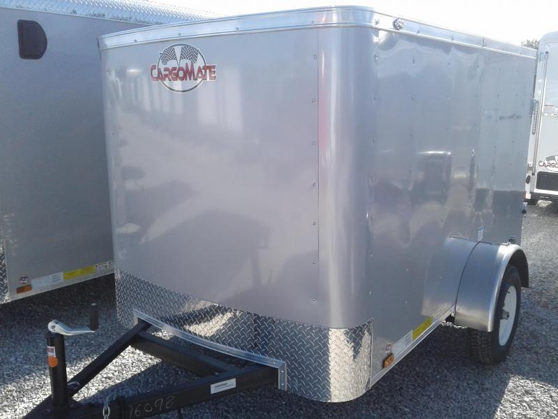 2019 5x8 Cargo Mate SS58SA Enclosed Cargo Trailer - Diamond Ice (Rear Swing Door)(GVW: 2000)
