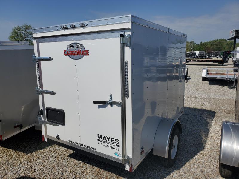 2019 5x8 Cargo Mate SS58SA Enclosed Cargo Trailer - White (Single Rear Swing Door)(GVW: 2000)(6