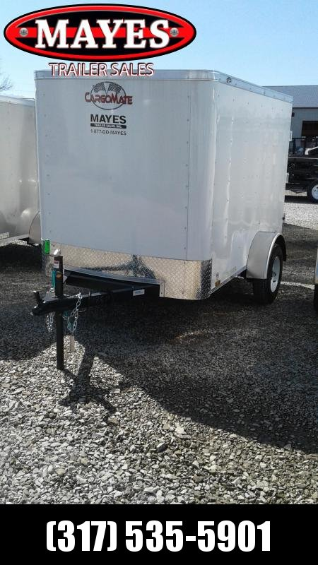 2019 5x8 Cargo Mate SS58SA Enclosed Cargo Trailer - White (Single Rear Swing Door)(GVW: 2000)(6