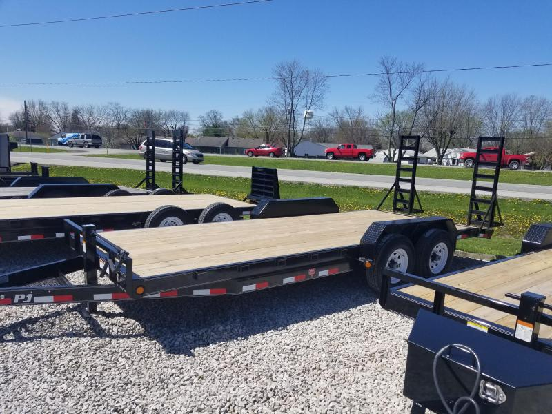 "2019 83x20(18+2' Dovetail) PJ Trailers CC 6"" Channel Equipment Trailer - w/ 5' Fold-up Ramps (GVW: 14000)"