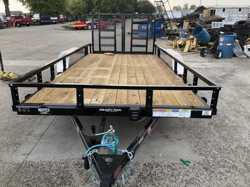 2020 83x16 (14+2) TA PJ Trailers UL162 Utility Trailer - Split HD Gate (GVW:  7000)