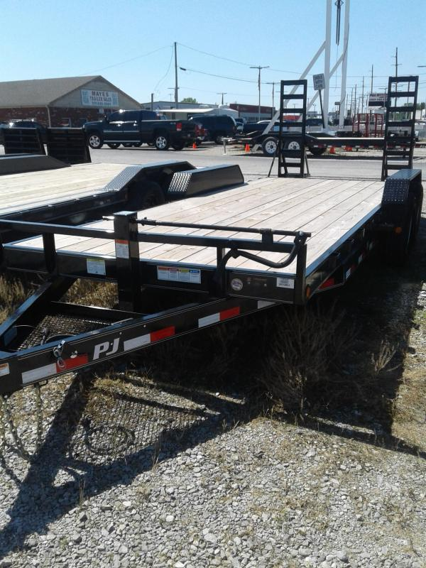 """2019 83x20(18+2' Dovetail) PJ Trailers CC 6"""" Channel Equipment Trailer - w/ 5' Fold-up Ramps (GVW: 14000)"""