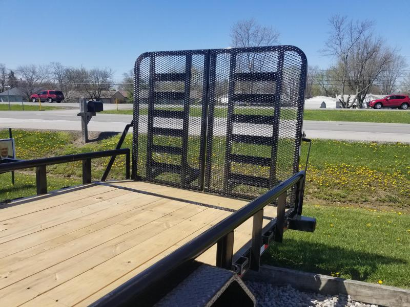 2018 83x22(20+2' Dovetail) Load Trail CS Equipment Trailer - w/ 5' HD Split Fold Gate (GVW: 14000)