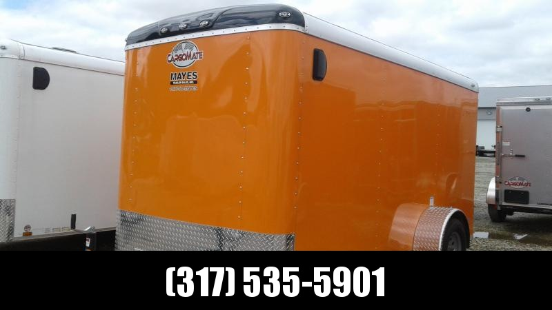 2020 6x12 SA Cargo Mate BL612SA Enclosed Cargo Trailer - Ramp Door - Orange in Color (GVW:  2990)
