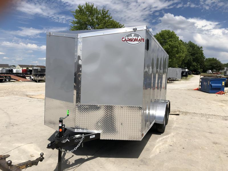 2020 7x14 TA Cargo Mate EHW714TA2 Enclosed Cargo Trailer - Ramp Door - Slant V-Nose (GVW:  7000)