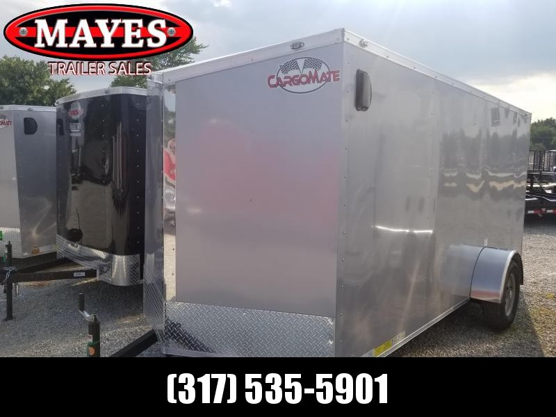 2019 6x14 Cargo Mate EHW614SA Enclosed Cargo Trailer - Diamond Ice (RD)(GVW: 2990) *Slant Wedge*