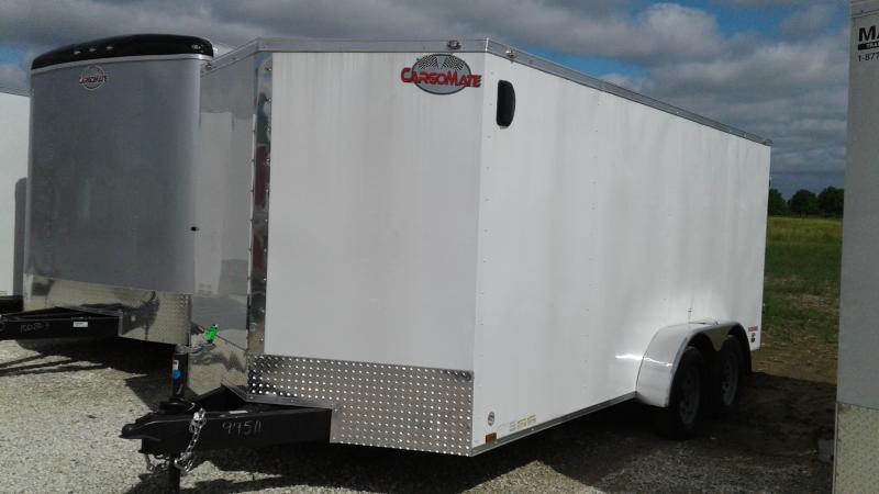 2019 7x16 TA Cargo Mate EHW716TA2 Enclosed Cargo Trailer - Double Door - Spring Suspension (GVW:  7000)