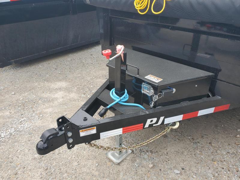 """2020 72x10 TA PJ Trailers 10'x72"""" Tandem Axle Dump Trailer - Split/Spread Gate - Tarp Kit (GVW:  9899)"""