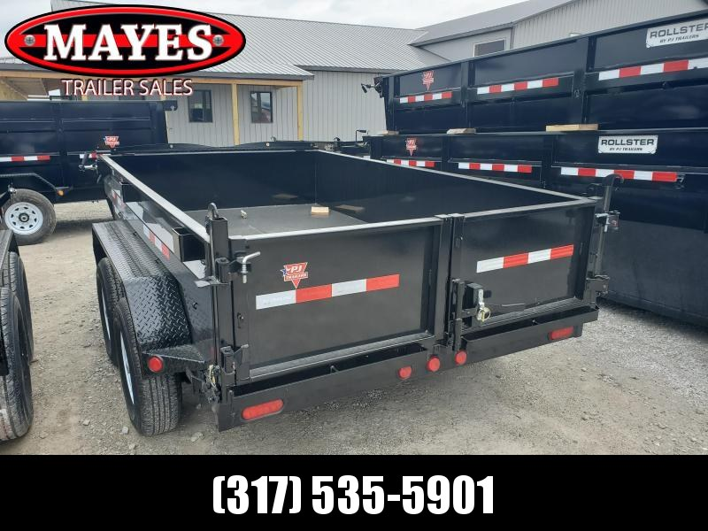 "2020 72x10 TA PJ Trailers 10'x72"" Tandem Axle Dump Trailer - Split/Spread Gate - Tarp Kit (GVW:  9899)"