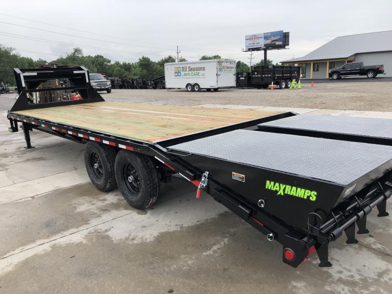 2019 102x25 (20+5) Load Trail GH0225072 Equipment Gooseneck Trailer - Self Clean Dove - Max Ramps (GVW:  14000)