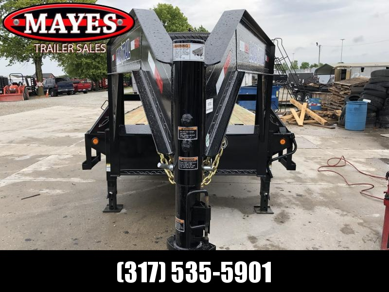 2019 102x25 (20+5) Load Trail GH0225072 Equipment Gooseneck Trailer - Self Clean Dove - Max Ramps (GVW:  14000)