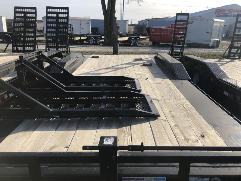 2019 96x20(18+2' Dovetail) PJ Trailers H6 Equipment Trailer - w/ 25x66 HD Fold-up Ramps (GVW: 16000)