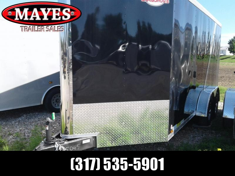 "2019 7x16 Cargo Mate BL716TA3 Enclosed Cargo Trailer - Black Front / Charcoal Rear (RD)(GVW: 9800)(6"" Extra Height)"