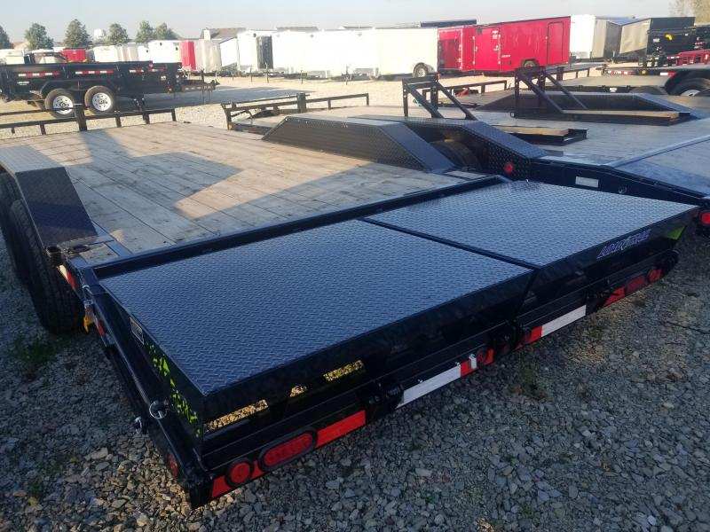 2019 102x22(20+2' Dovetail) Load Trail CH22 Tandem Axle Equipment Hauler - w/ MAX Ramps (GVW: 14000)