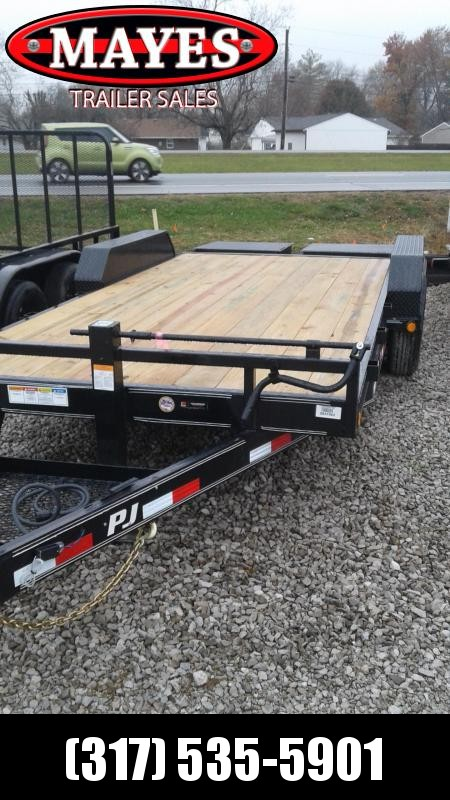 2019 83x18 (14.5+3.5) PJ Trailers CC182 Equipment Trailer - Monster Ramps (GVW:  14000)
